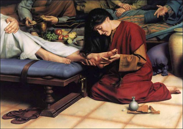 Luk 7 44 And He Turned To The Woman And Said Unto Simon Seest