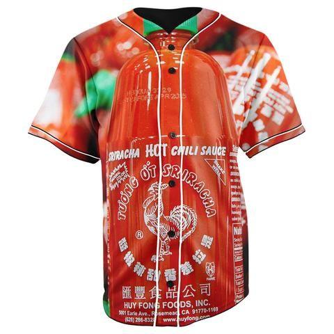 c2b47c138 Sriracha Sauce Button Up Baseball Jersey - JAKKOUTTHEBXX - JAKKOU††HEBXX