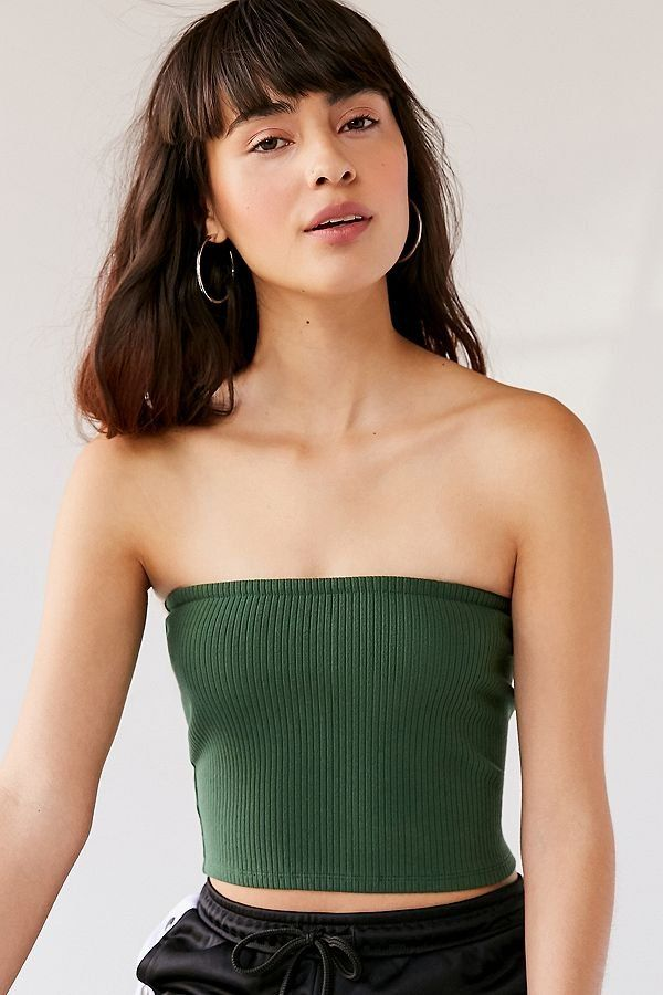 UO Hallie Ribbed Knit Tube Top #tubetopoutfits