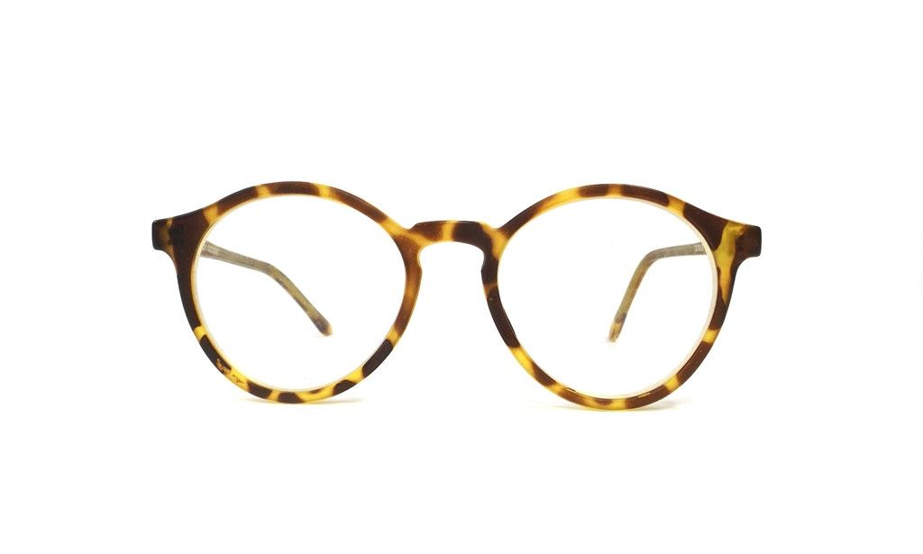 b87a7aa041 vintage 90s used eyeglasses frames round matte plastic tortoise shell  yellow eye glasses eyewear simple classic traditional smart unisex 141 by  ...
