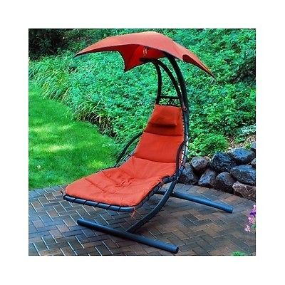 chaise lounge chair pool lounger hanging hammock swing umbrella