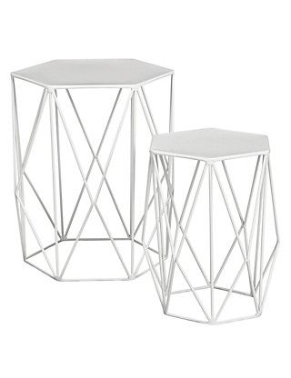 Wire Nest Of Tables White M S White Side Table Living Room