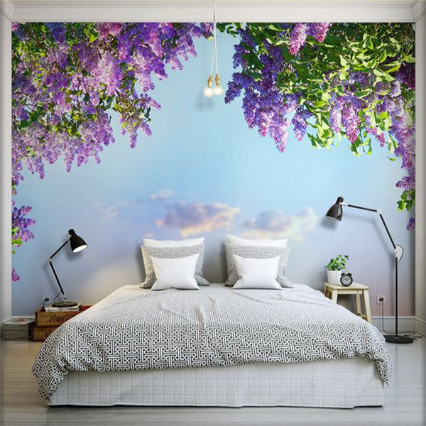 3d Large Seamless Living Room Wall Painting Tv Wall Background