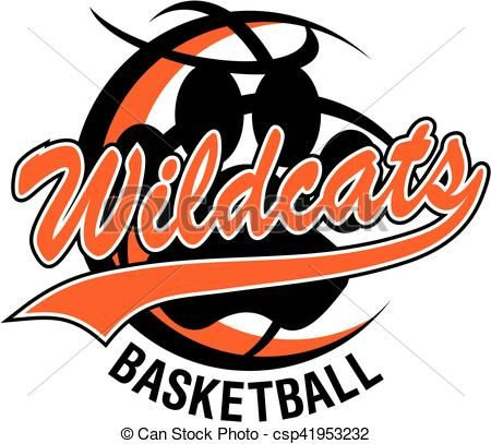 Vector - wildcats basketball - stock illustration, royalty free illustrations, stock clip art icon, stock clipart icons, logo, line art, EPS picture, pictures, graphic, graphics, drawing, drawings, vector image, artwork, EPS vector art