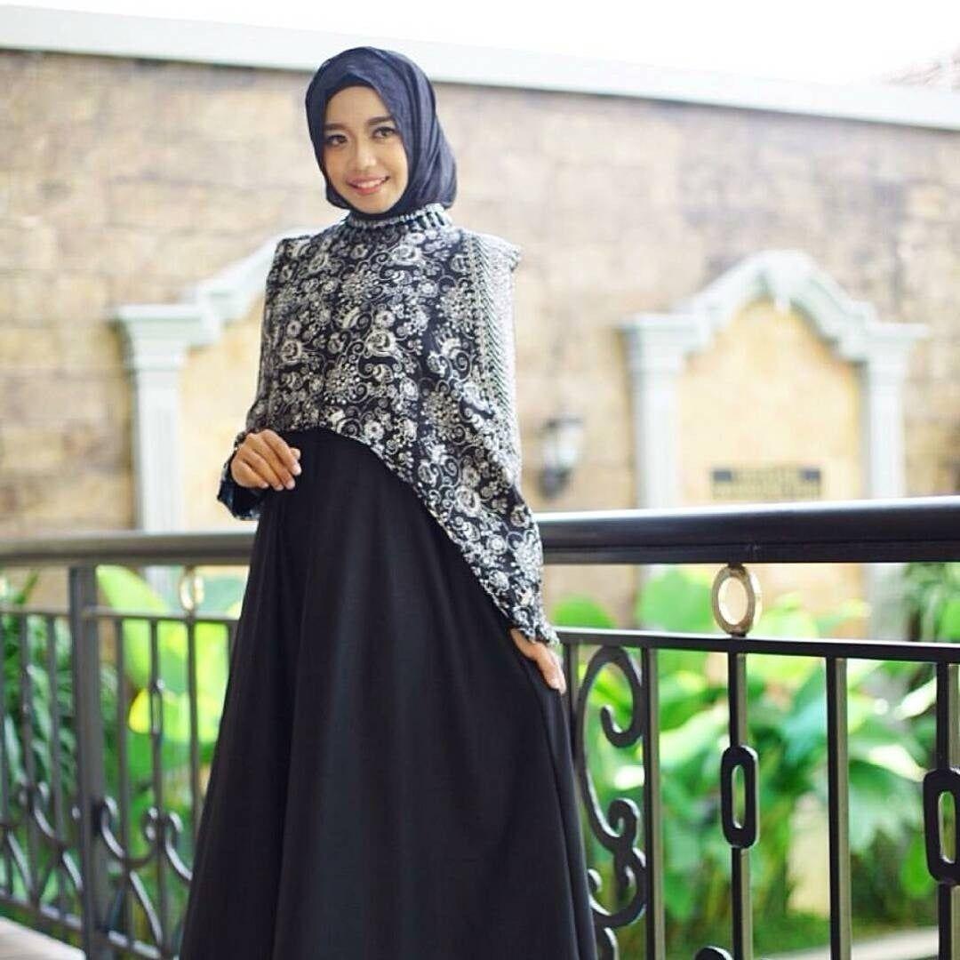 Model Baju Gamis Batik Untuk Pesta  Wanita, Baju muslim, Model