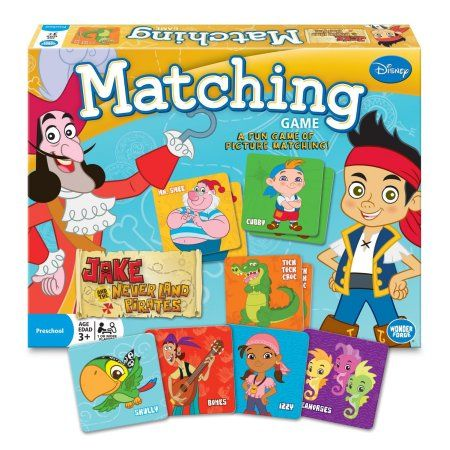 Games - Disney - Jake and the Never Land Pirates - Matching Game New 1213, Multicolor