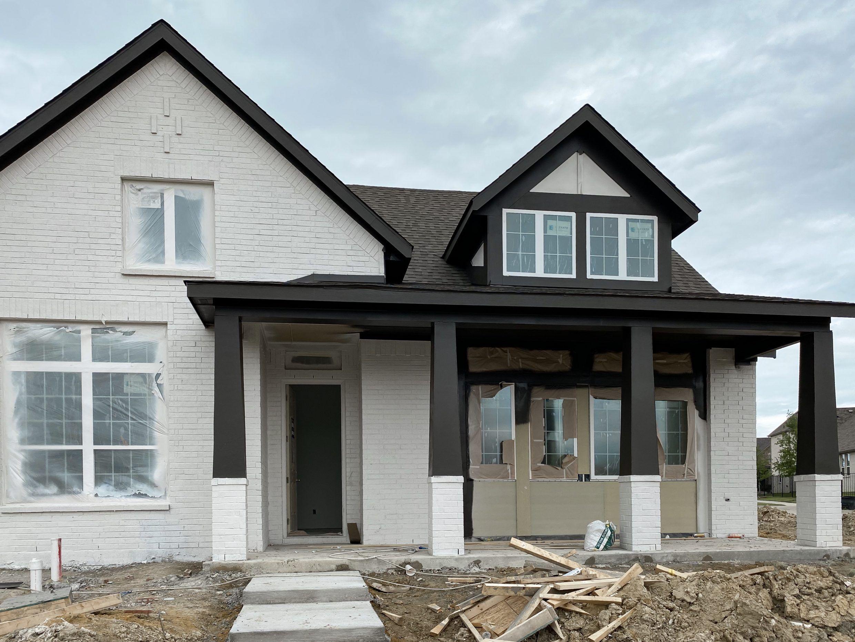 White Brick With Black Trim In 2020 Brick Exterior House Painted Brick House White Exterior Houses