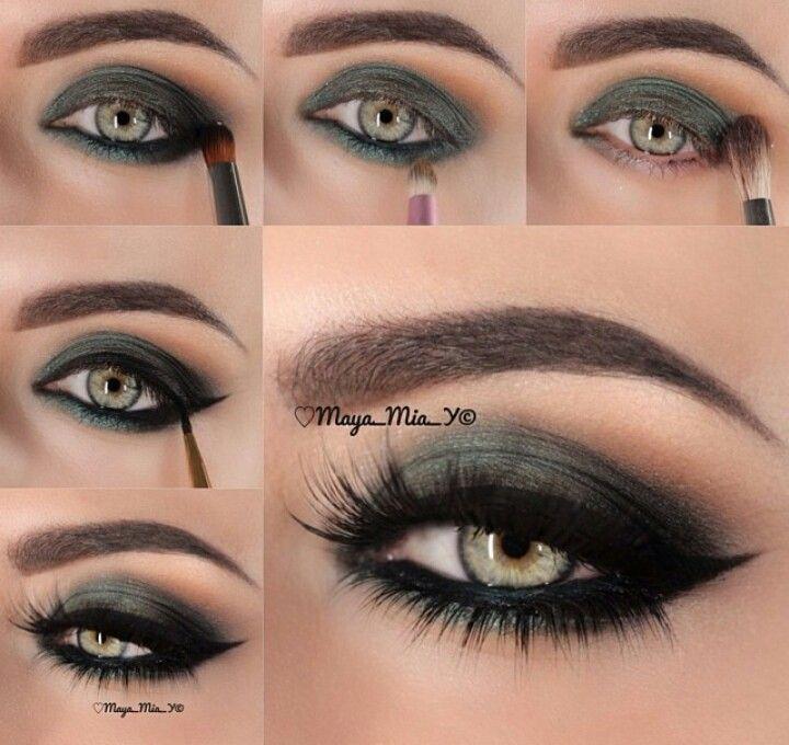 Army Green Eye Look | EYE MAKEUP! | Pinterest | Green eyes, Army ...