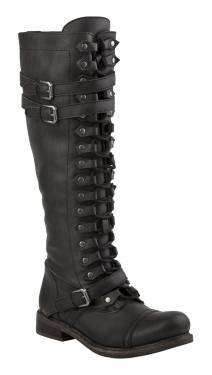 Zigi Girl Trait Knee High Lace Up Military Boot in Black $249.00....Beautiful but I cannot afford