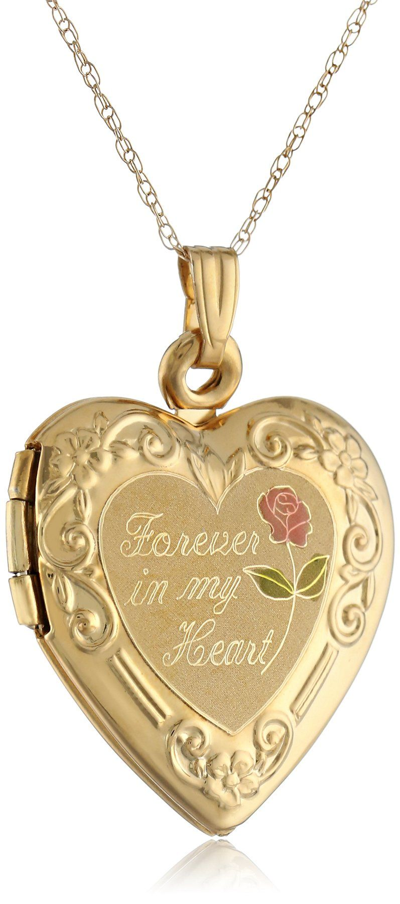 14k yellow gold forever in my heart locket necklace 18 14k yellow gold forever in my heart locket necklace aloadofball Choice Image