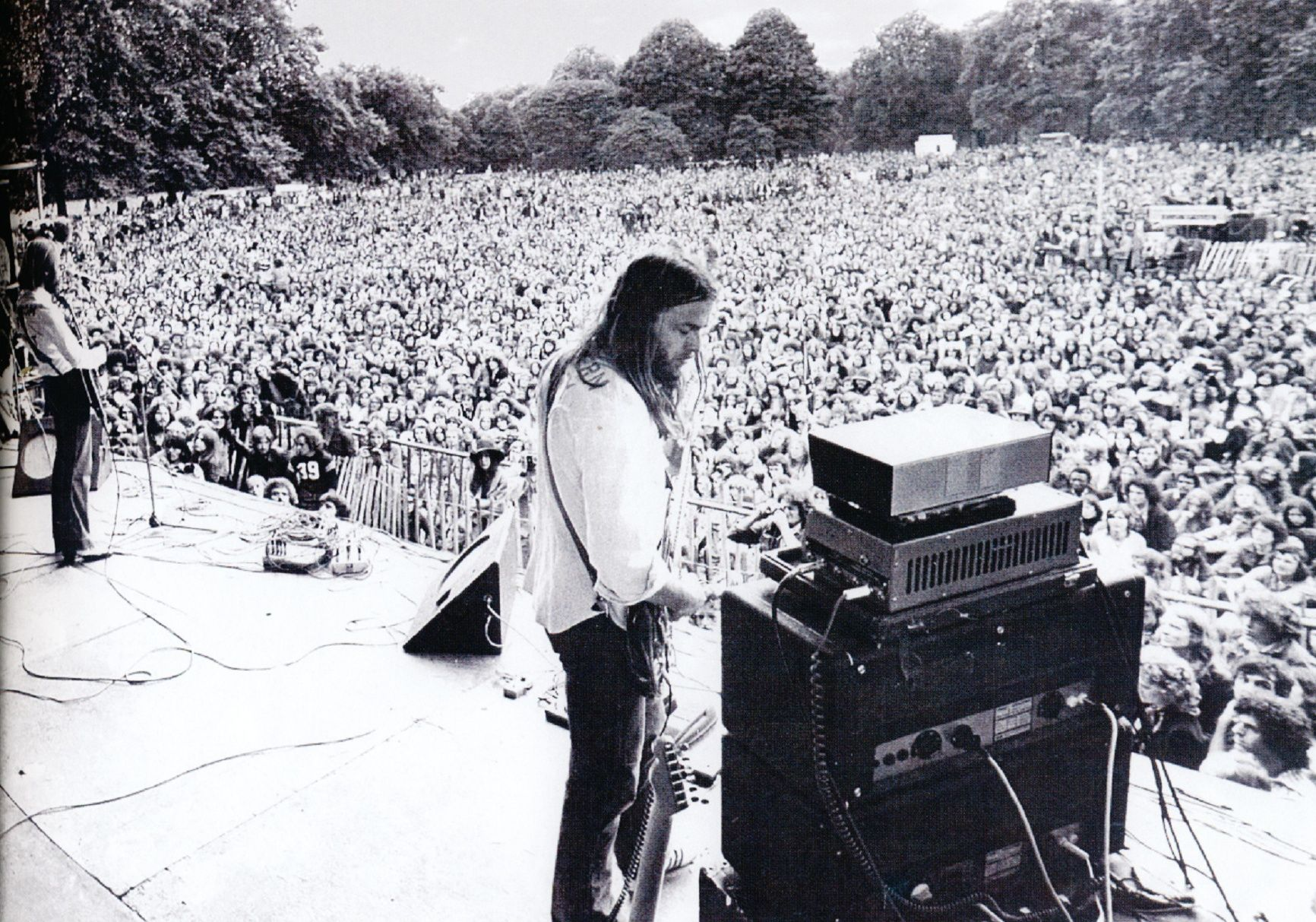 Pink Floyd At Hyde Park In 1970 With Images Pink Floyd David