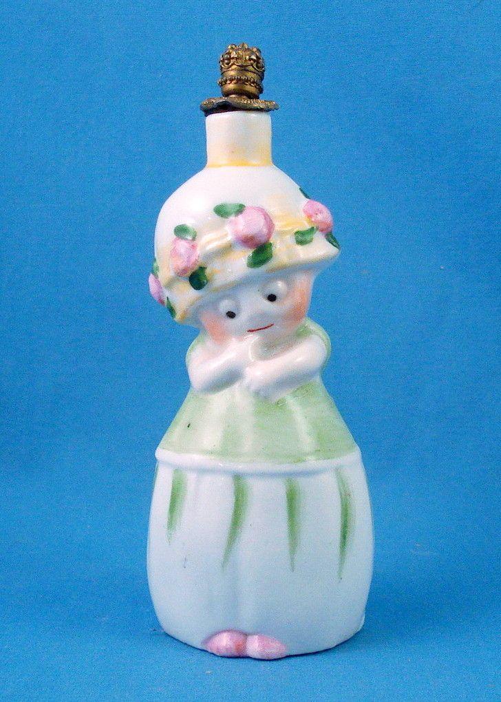 German little girl crown top perfume bottle