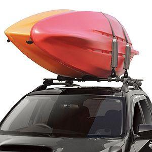 Kayak Roof Rack For Cars >> Inno Ina450 Fold Down 2 Kayak Rack Vertical Kayak Carrier For Car