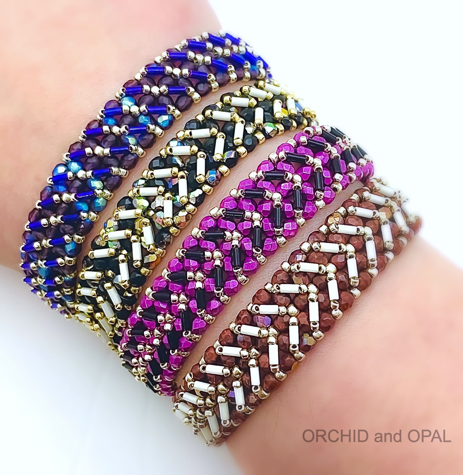 Free Beading Pattern Laces Out Bugle And Seed Bead Bracelet Tutorial By O In 2020 Seed Bead Bracelet Patterns Tutorials Beaded Bracelets Tutorial Bead Woven Bracelet