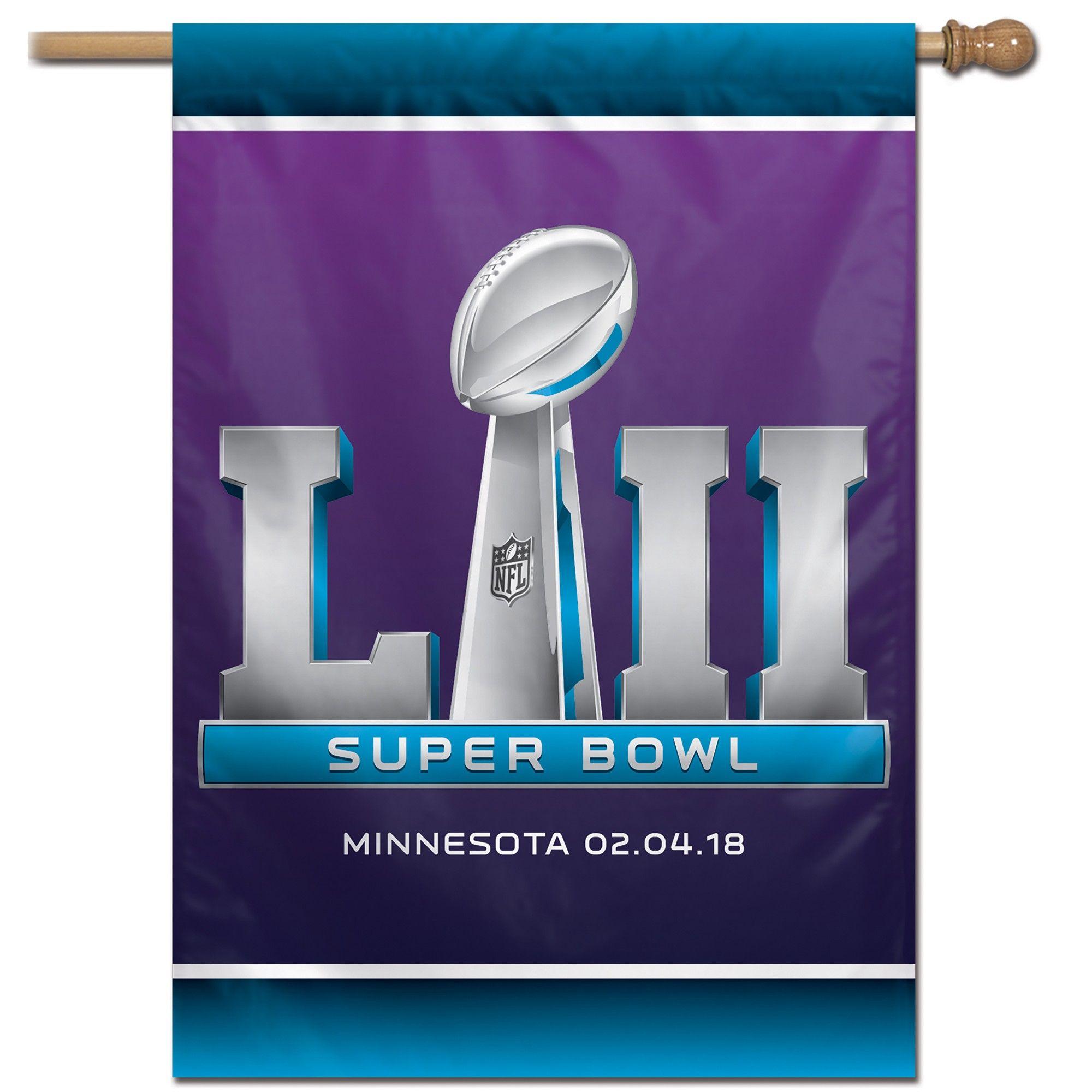 NFL Super Bowl 52 Vertical Banner | Super bowl 52, Super ...