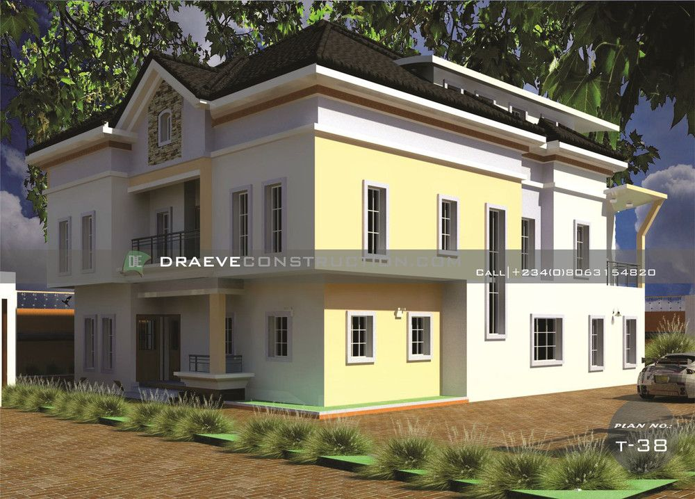 7 Bedroom Luxury Duplex House Plan With A Penthouse Duplex House Plans Duplex House Bungalow House Design