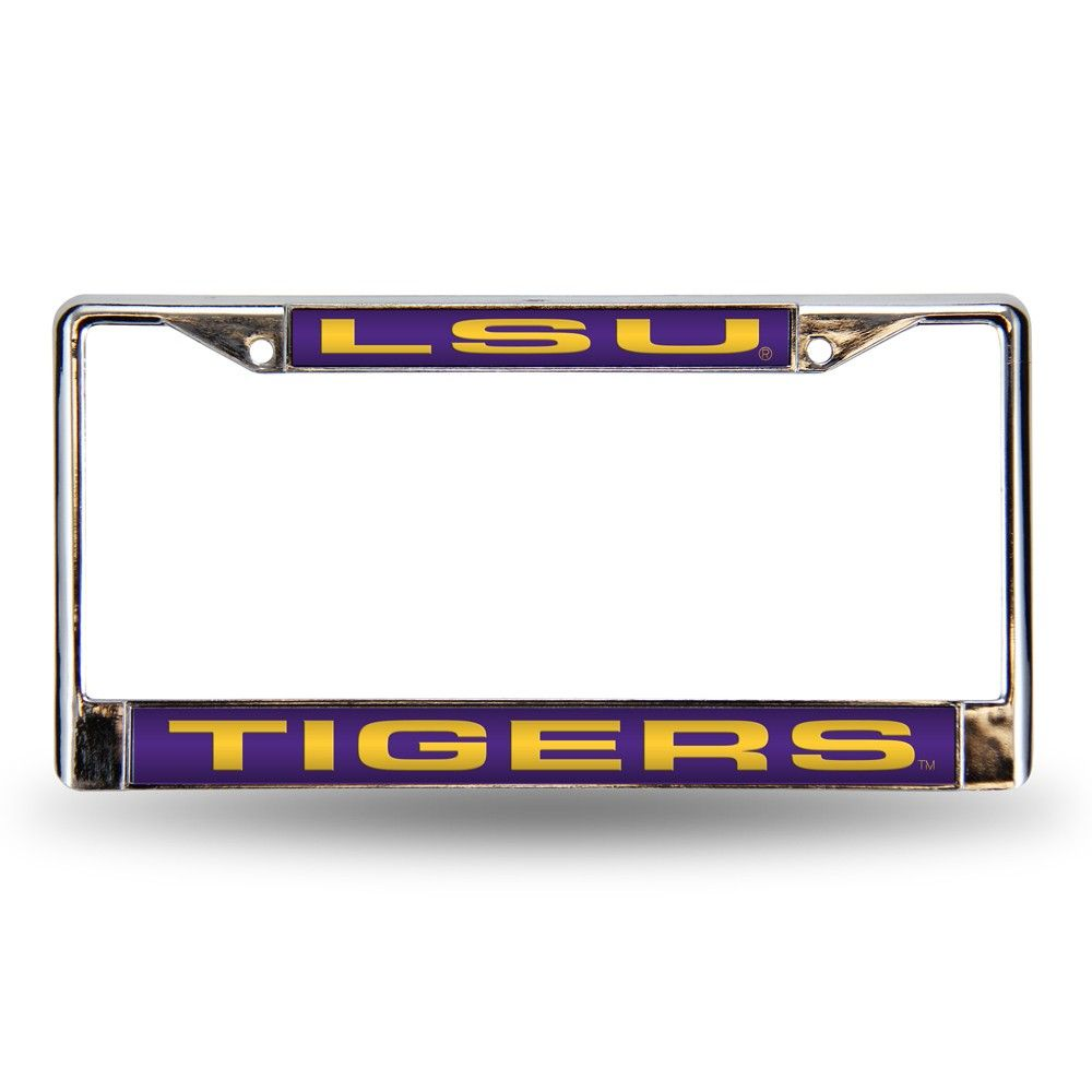 Graphics and More LSU Mom License Plate Tag Frame