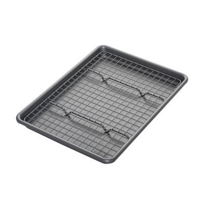 Chicago Metallic Nonstick Jelly Roll Pan And Cooling Rack Set W