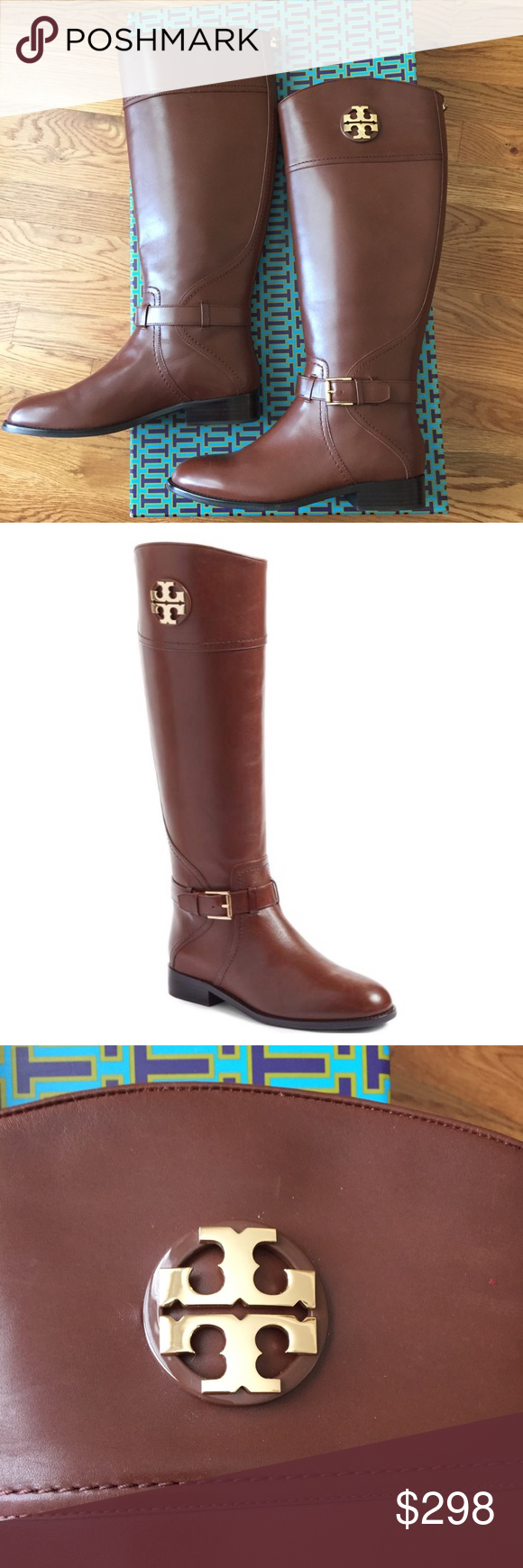 4f426a9863d2 Size 8.5 Tory Burch Adeline Riding Boots NEW Genuine Tory Burch Adeline  Riding Boots in Almond