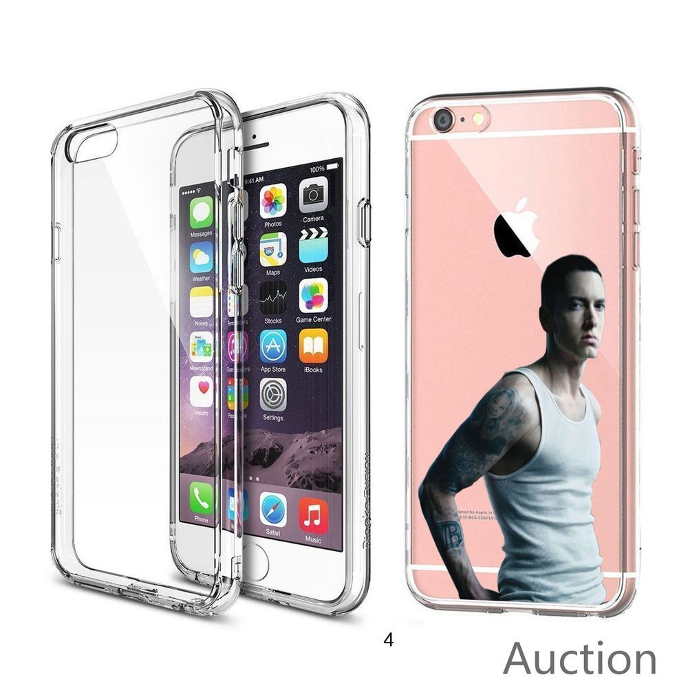 Eminem Hip Hop Rapper For IPhone 6/6s CLEAR TPU Case Laser ...