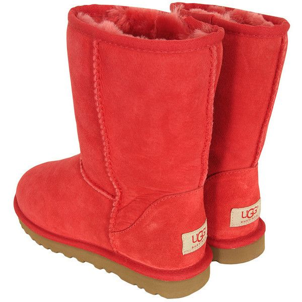 Ugg Classic Short Hibiscus Boots ($250) ❤ liked on Polyvore