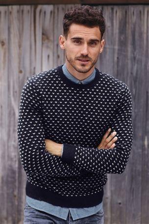 Polka Dot Printed Sweater Chambray Button Up Shirt Light Wash