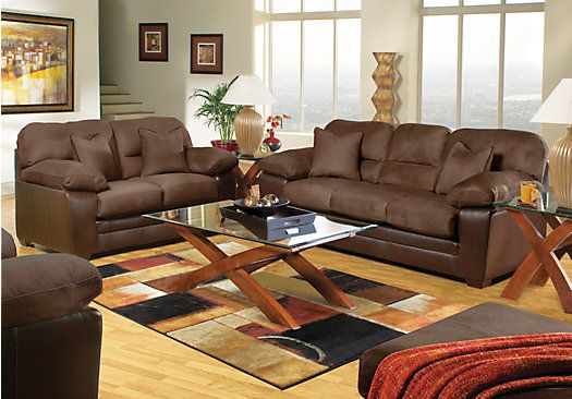Shop For A Hollis Chocolate 5 Pc Living Room At Rooms To Go Find Sets That Will Look Great In Your Home And Complement The Rest Of