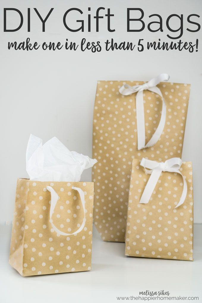It S Easy To Make Your Own Diy Gift Bags In Under 5 Minutes Using Wring Paper Tape And Ribbon Perfect For Christmas Or Oddly Shaped Presents