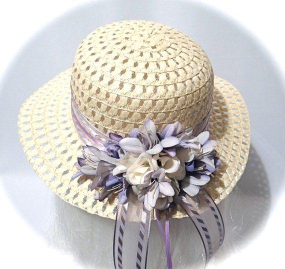 Girls Easter Bonnet Sun Hats Flower Girl Tea Party Hat GH-104 ... cbef4f2732c1