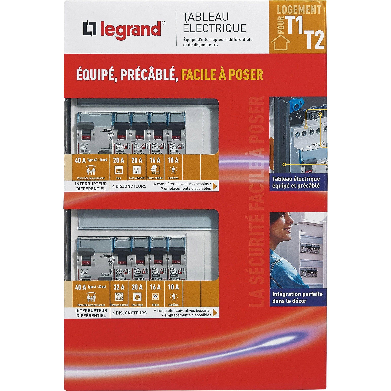 Tableau Electrique Equipe Precable Legrand Essentiel 2 Rangees 28 Modules Tableau Electrique Tableau Legrand