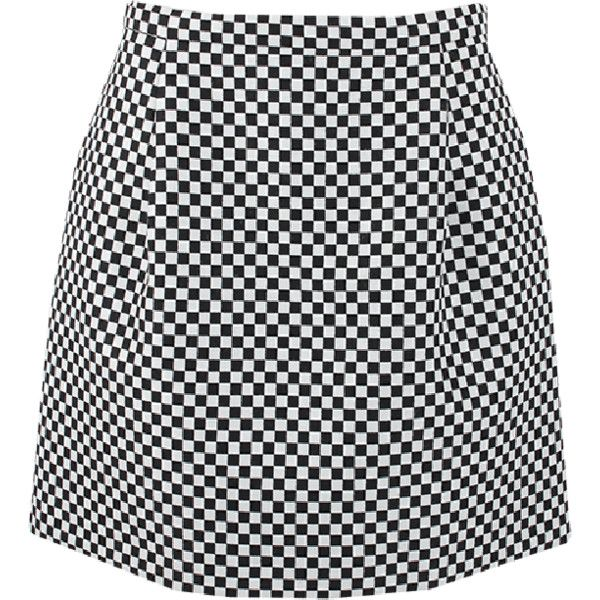 MICHAEL KORS Back Zip Jacquard Mini Bell Skirt (5.650 ARS) ❤ liked on Polyvore featuring skirts, mini skirts, michael kors, mini skirt, black mini skirt, back zipper skirt and black skirt