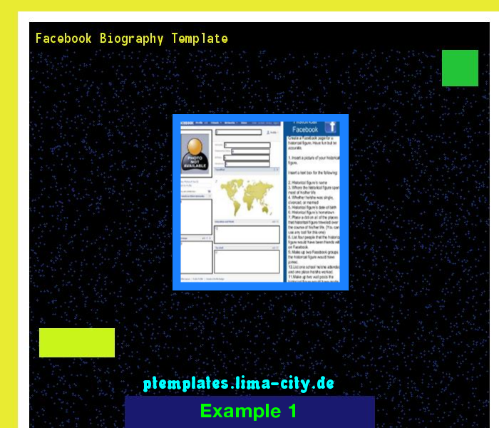 Facebook Biography Template Powerpoint Templates   The