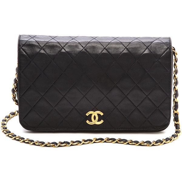 What Goes Around Comes Around Chanel Full Flap Bag - Black found on Polyvore f58c37ad53a57