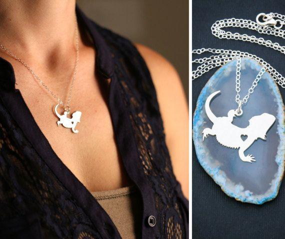 Bearded Dragon Charm Lizard Necklace Dragon Jewelry Pet