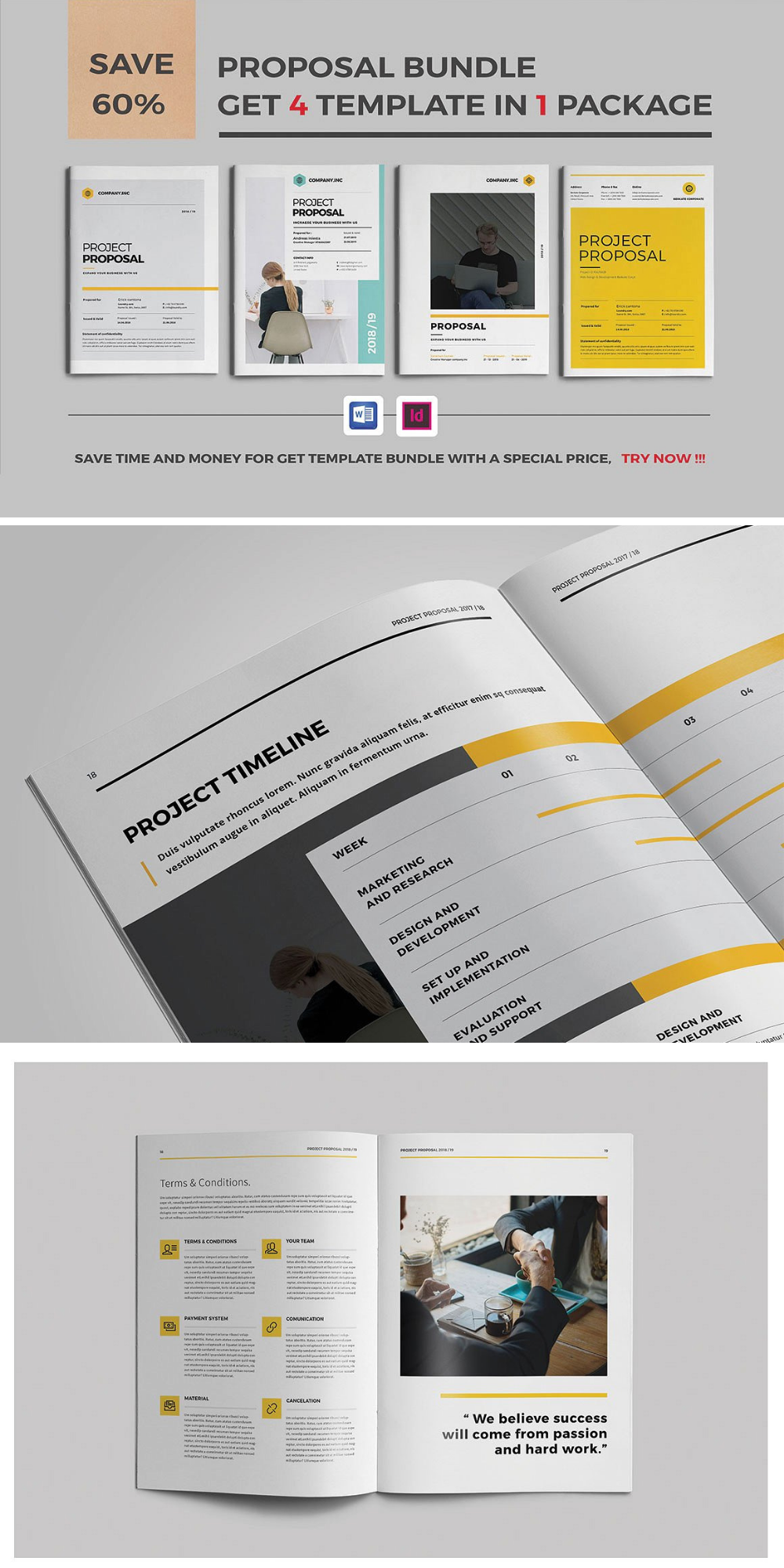 Proposal Bundle Indesign Templates Templates Mockup