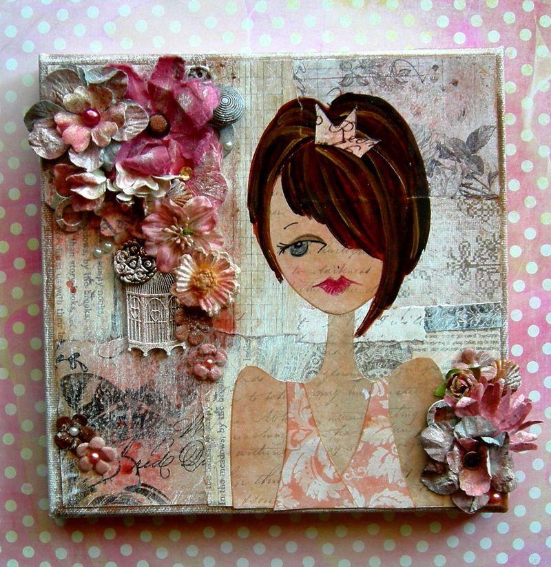 Julie Nutting canvas using Prima