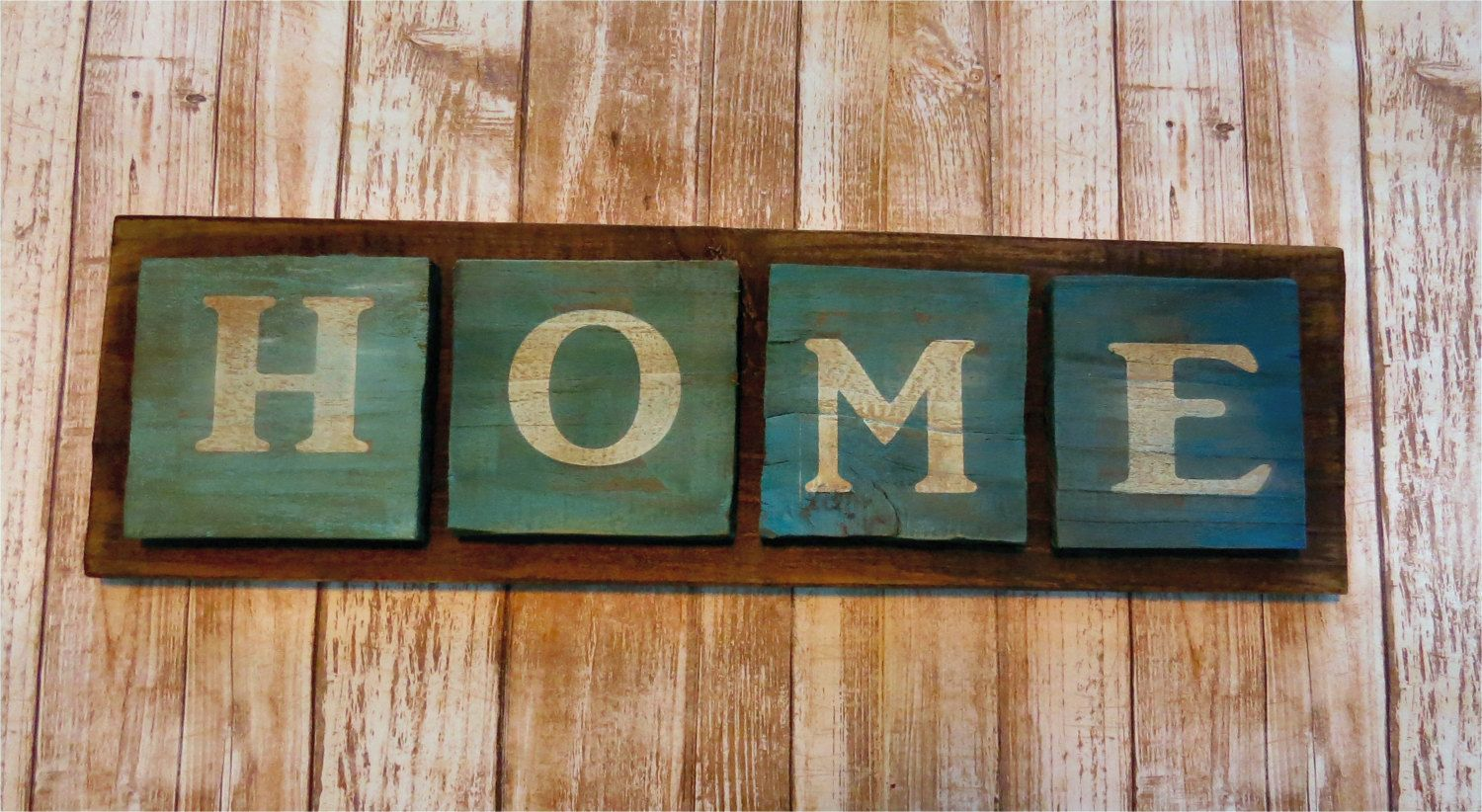 Custom wood sign rustic distressed ombre home signpainted wood