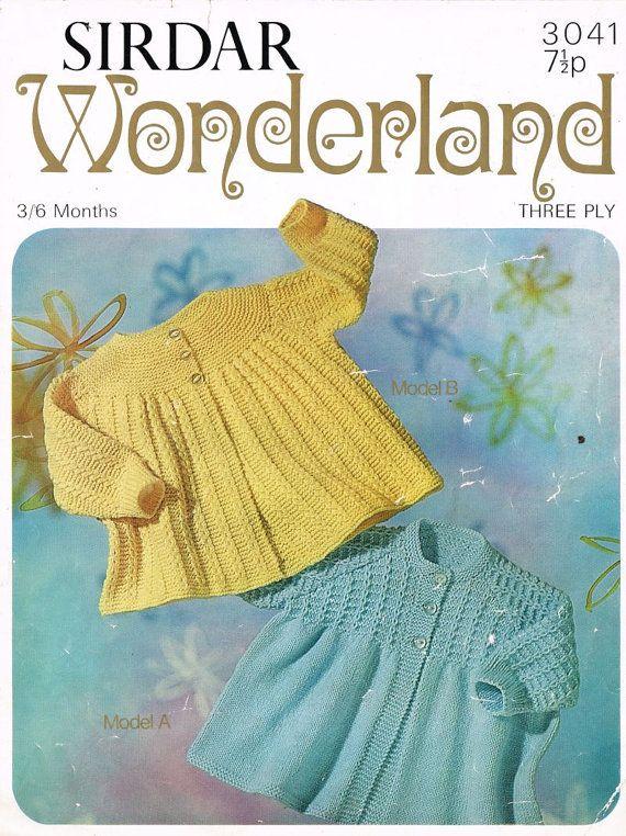 Sirdar Sunshine 3041 baby matinee coat and cardigan by Ellisadine ...