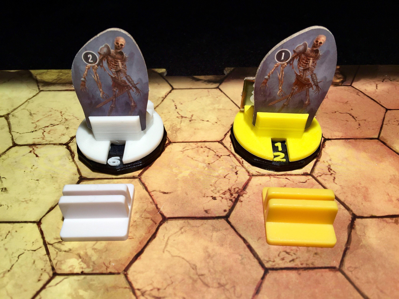 Gloomhaven Monster Bases (pkg 4) Board games, 3d