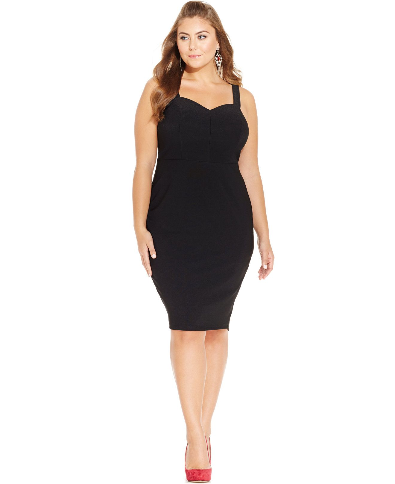f66808178f935 Trixxi Plus Size Sweetheart Bodycon Dress - Trendy Plus Sizes - Plus Sizes  - Macy s