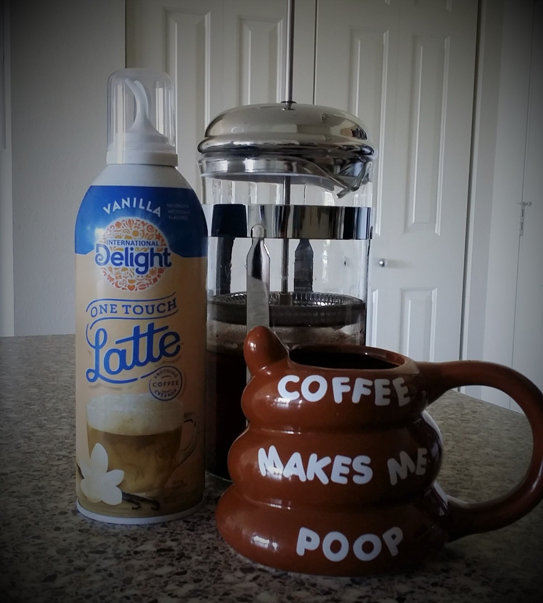 Made A One Touch Vanilla Latte At Home, With International