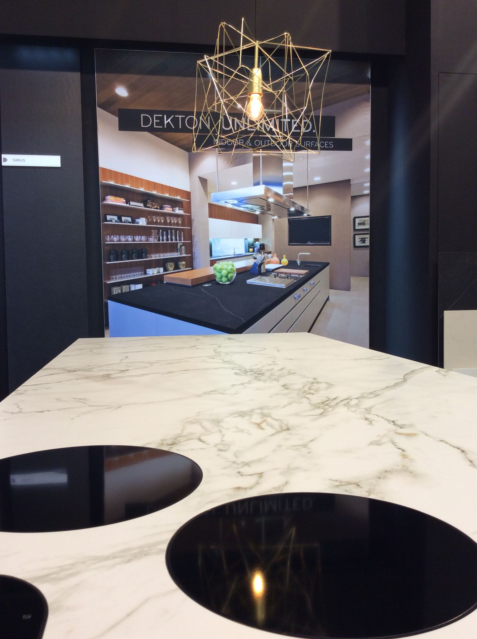 Dekton Entzo @ Batibouw Brussels stand Cosentino by Louis Culot ...