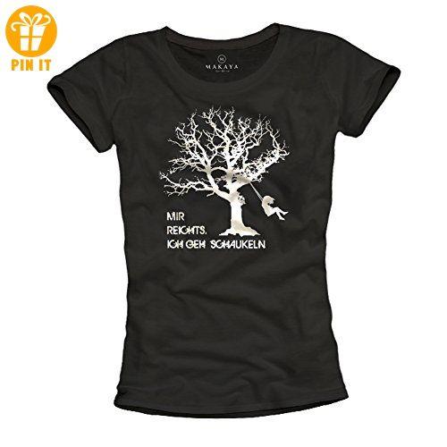 Lustiges Damen Shirt Mit Spruch Mir Reichts Ich Geh Schaukeln Schwarz Grosse Xl T Shirts Mit Spruch Lustige Und Coole T Shirts T Shirt Damen Shirts T Shirt
