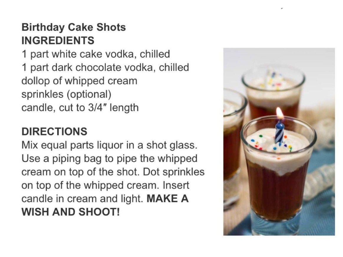 Phenomenal 27 Brilliant Photo Of Birthday Cake Shot Ingredients Cake Shots Funny Birthday Cards Online Overcheapnameinfo