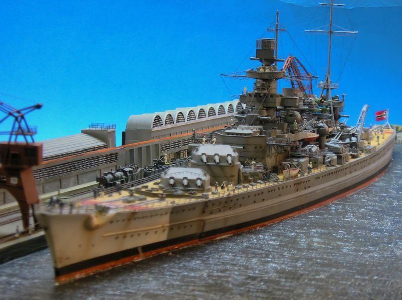 German battleship Scharnhorst 1/400 Scale Model Diorama