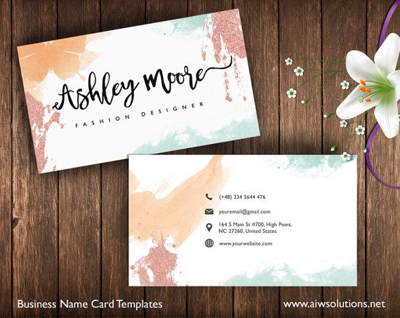 Business Cards Printable Name Card Template By Aiwsolutions