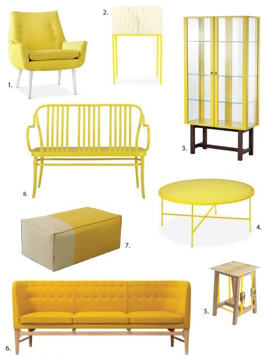 Bold Gold Yellow Furniture That Works Featuring The