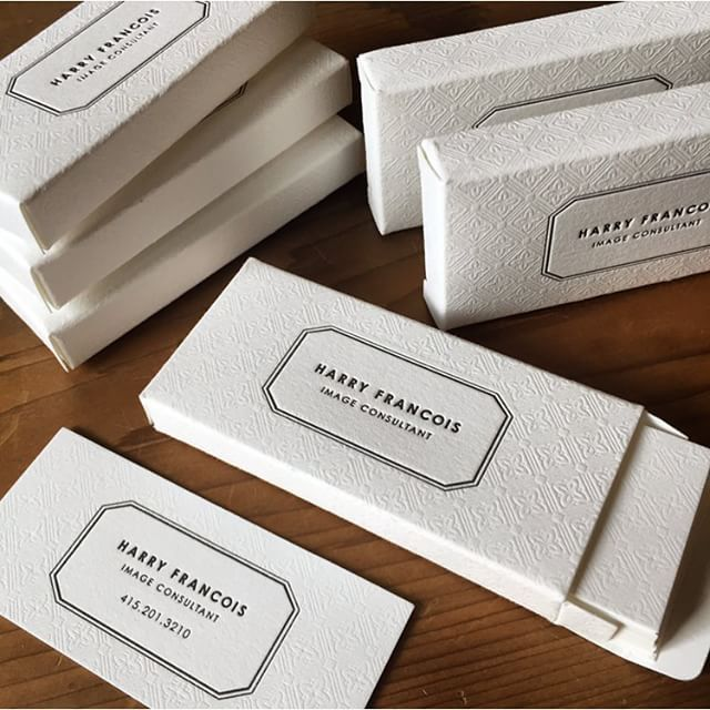 Mini letterpress business cards are made even cuter with a matching letterpress box jukeboxprint