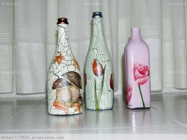Botellas decoradas botellas y cristales drapeados pinterest botellas decoradas drapeado y - Botellas decoradas navidenas ...