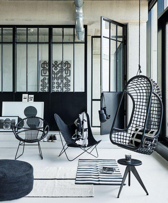 Black industrial spirit PLANETE DECO a homes world Livingroom